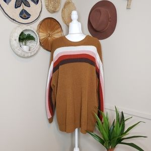Terra & Sky Retro Striped Sweater
